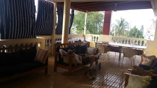 Trinity Lodge: Upstairs patio