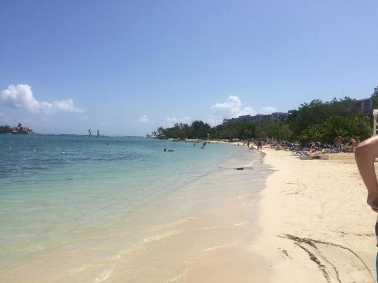 Hotel Riu Palace Jamaica Beach At Montego Bay Next Door