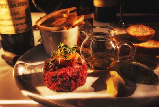 Pierre's: Steak Tartare with Cognac