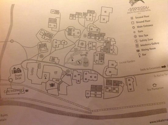 Inkaterra Machu Picchu Pueblo Hotel: map of the casitas