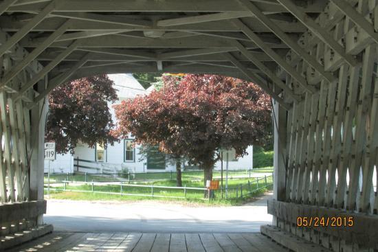 Ashuelot, Nueva Hampshire: View from inside the Bridge