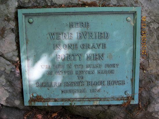 Smith's Castle: Plaque recognizing lives lost