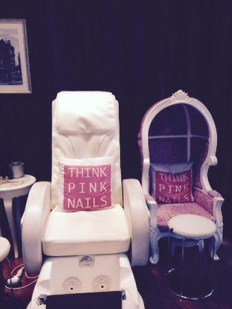 Think Pink Nails: Mani And Pedi Massage Chair And One For Little Girls