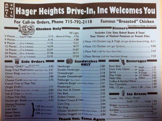 Hager City, WI : Hager Heights Drive Inn