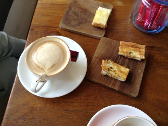 Coffee Club Myanmar - Downtown Yangon: cappuccino and sandwiches
