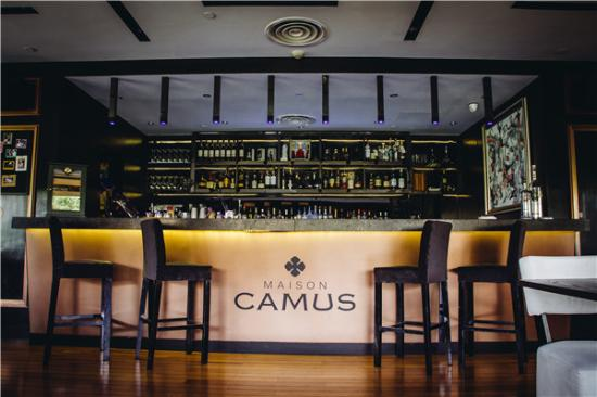 maison camus bar counter picture of maison camus shanghai tripadvisor. Black Bedroom Furniture Sets. Home Design Ideas