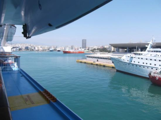 A Cruise Ship Taking On Bunker Fuel Picture Of Port Of Piraeus - Cruise ship fuel
