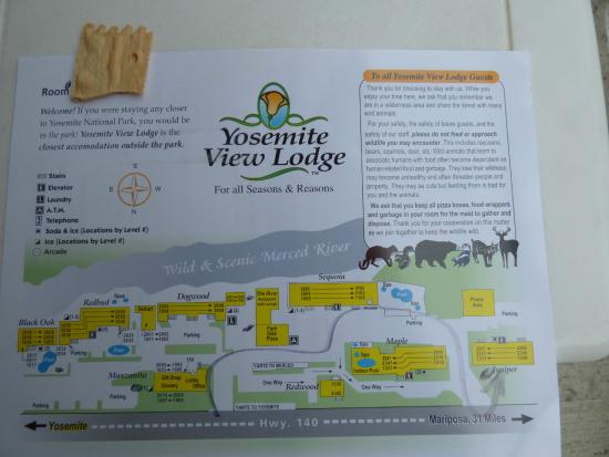 map of hotel complex picture of yosemite view lodge el. Black Bedroom Furniture Sets. Home Design Ideas