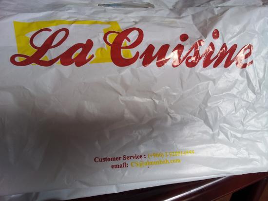 La Cuisine: Take away bag