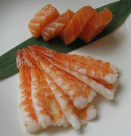 Spring Rolls : Sashimi Salmon and EBI
