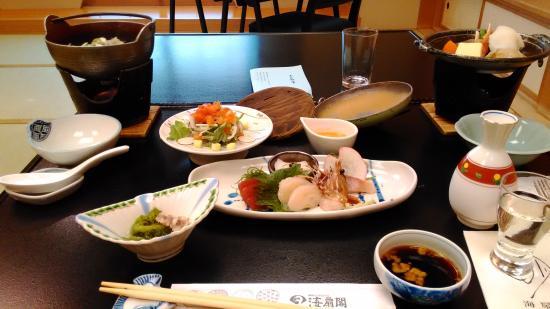 Kaisenkaku: 海扇閣 夕食(一部)
