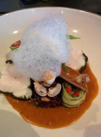 U Fanale: Lotte mit Algen und Paella-Reis