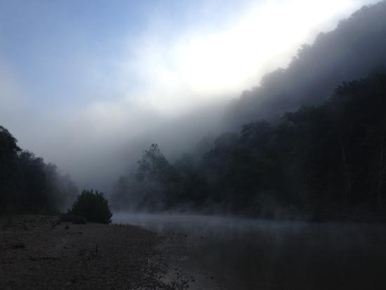 River's Edge Resort: The Jacks Fork at dawn.