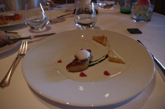 La Ferme Saint Siméon Restaurant - Relais et Châteaux : le foie gras poêlé