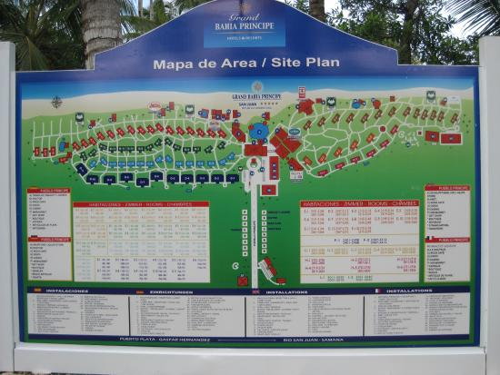 map of hotel - Bild von Grand Bahia Principe San Juan, Rio ...