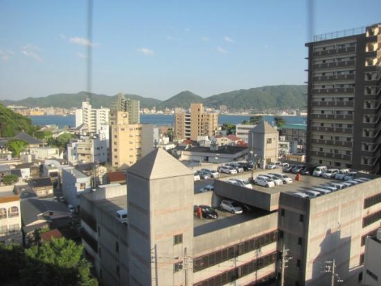 Tokyo Dai-Ichi Hotel Shimonoseki: 部屋から関門海峡を望む