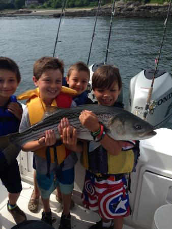 Striper picture of the ultimate kids fishing camp for Fishing camps for kids