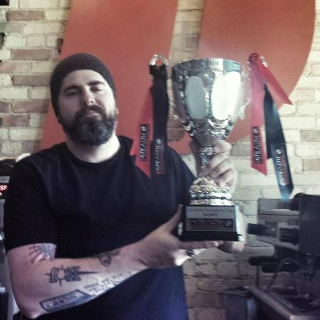 The owner holding the Stealth Founders Cup!