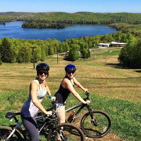 Haliburton, Canada: At the top of the hill