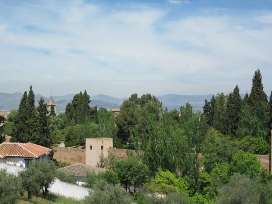 Guadalupe Hotel: View of a bit of the Alhambra