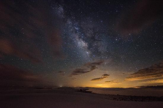 Alamogordo, Nouveau-Mexique : Milky Way at White Sands