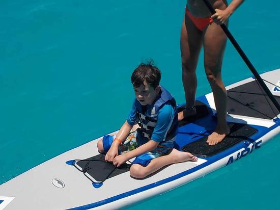 Simpson Bay, St. Maarten-St. Martin: April taking my son for a ride