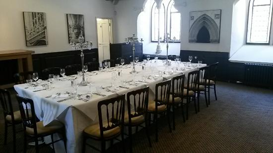 Chickpea cake picture of brasserie blanc bristol for Best private dining rooms bristol