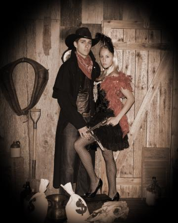 Saloon Girl And Her Gunslinger Picture Of Tnt Old Time
