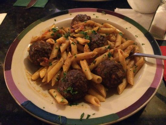 Meatballs with Penne pasta - Picture of Frankie & Benny's New York ...