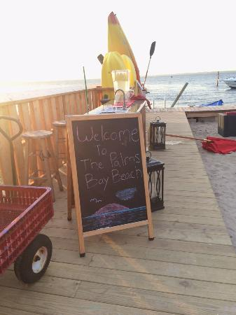 The Palms Hotel Fire Island: Before sunset - our deck