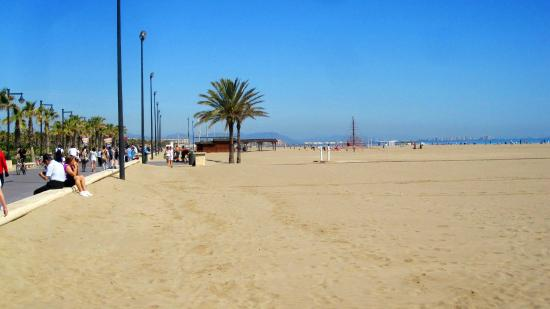 Playa de la Malvarrosa: Playa y paseo maritimo
