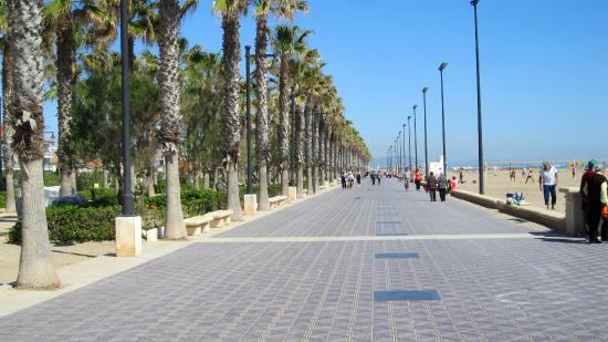 Playa de la Malvarrosa: Paseo maritimo