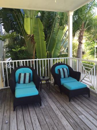 Beach Club at Siesta Key: Nice private patio on end unit