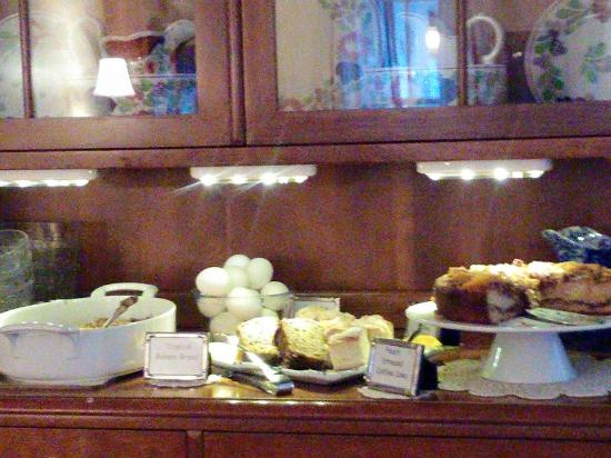 Haan's 1830 Inn: Only part of the wonderful, home made breakfast spread