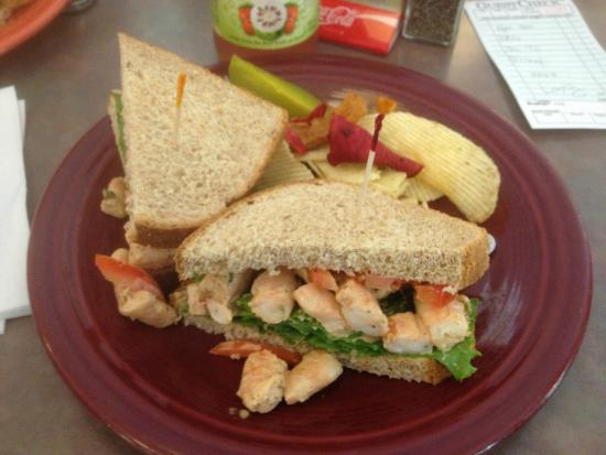 Old World Cafe and Ice Cream : Old World Cafe - shrimp salad sandwich