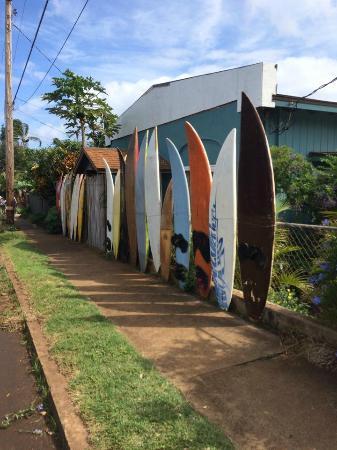 Paia, Hawaje: Front of the Hostel