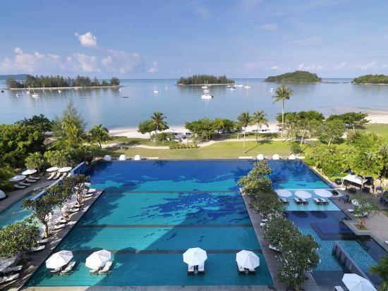 The Danna Langkawi, Malaysia: The Danna Langkawi houses the largest infinity pool on the island