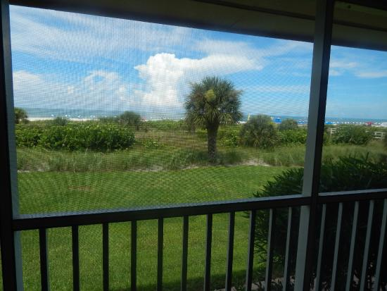 Club Regency of Marco Island : view from screened in terrace towards beach and ocean
