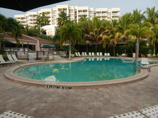 Club Regency of Marco Island : pool and hotel next door