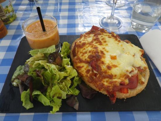 Ripailles: Ham Tarte plate