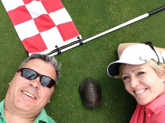 Pevero Golf Club : Turtle on the green!
