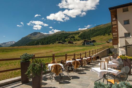 Vista dalla Terrazza dell'Hotel Lac Salin SPA & Mountain Resort