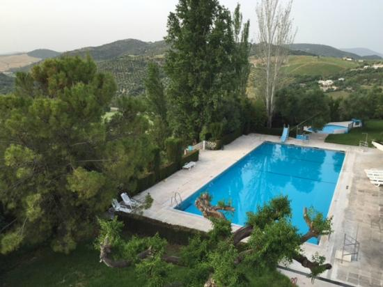 Hotel del Carmen: view over pool from terrace