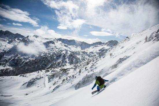 Encamp, Andorre : Grandvalira, snowboard