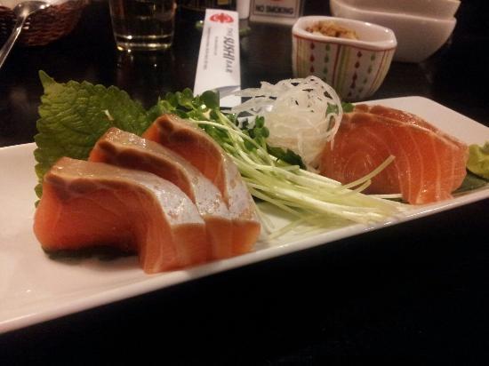 The Sushi Bar 2: Salmon sashimi beautiful