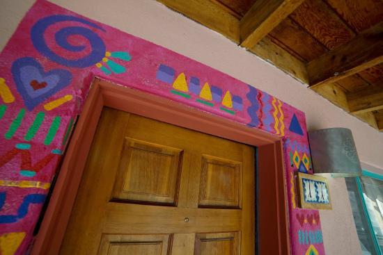 Inn on the Rio: painted doorway