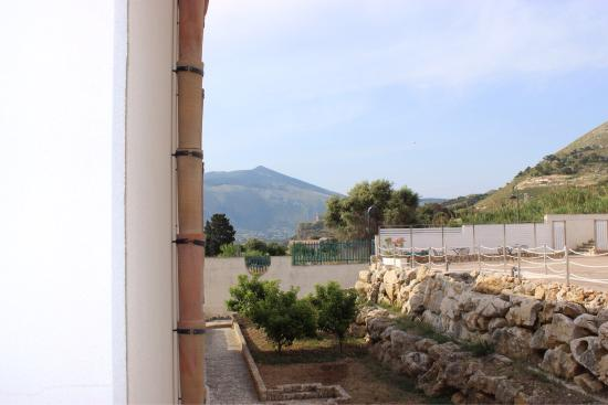Hotel Baglio di Scopello: View from room on first floor looking south.