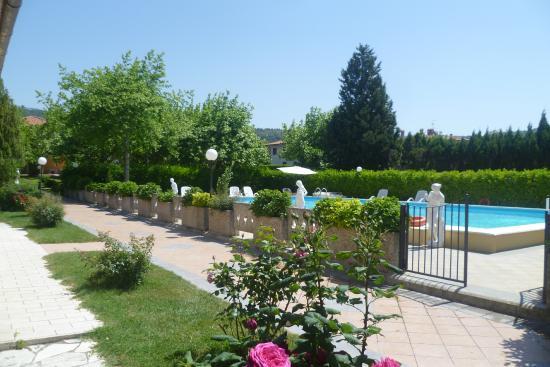 Loriana Park Hotel: tuin met zwembad