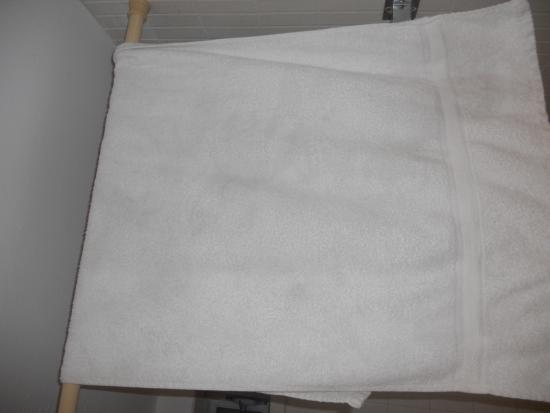 Golden Host Resort: stained dirty towels