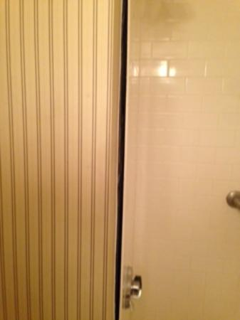 Four Points by Sheraton Richmond: bathroom insert coming away from the wall exposing mold